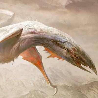 Antonio j manzanedo winged creature manzanedo