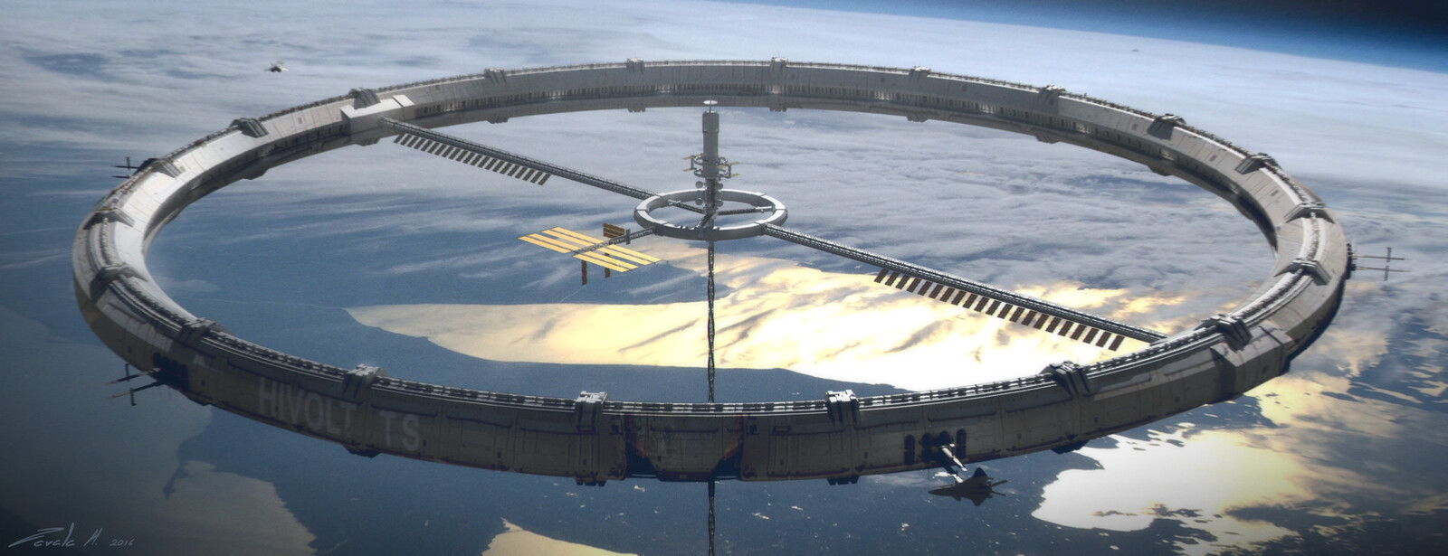 Space elevator ring early concept.