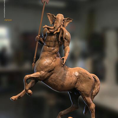 Surajit sen arano digital sculpture surajitsen may2020a