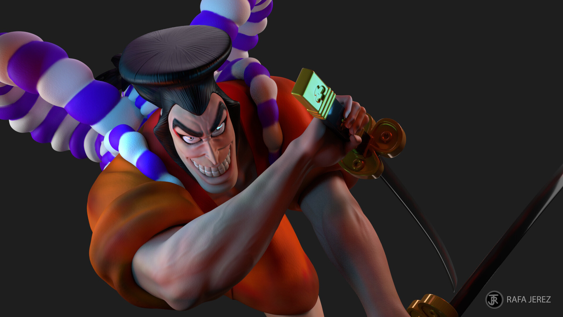 Artstation Oden Kozuki Wano S Legendary Shogun One Piece Rafa Jerez