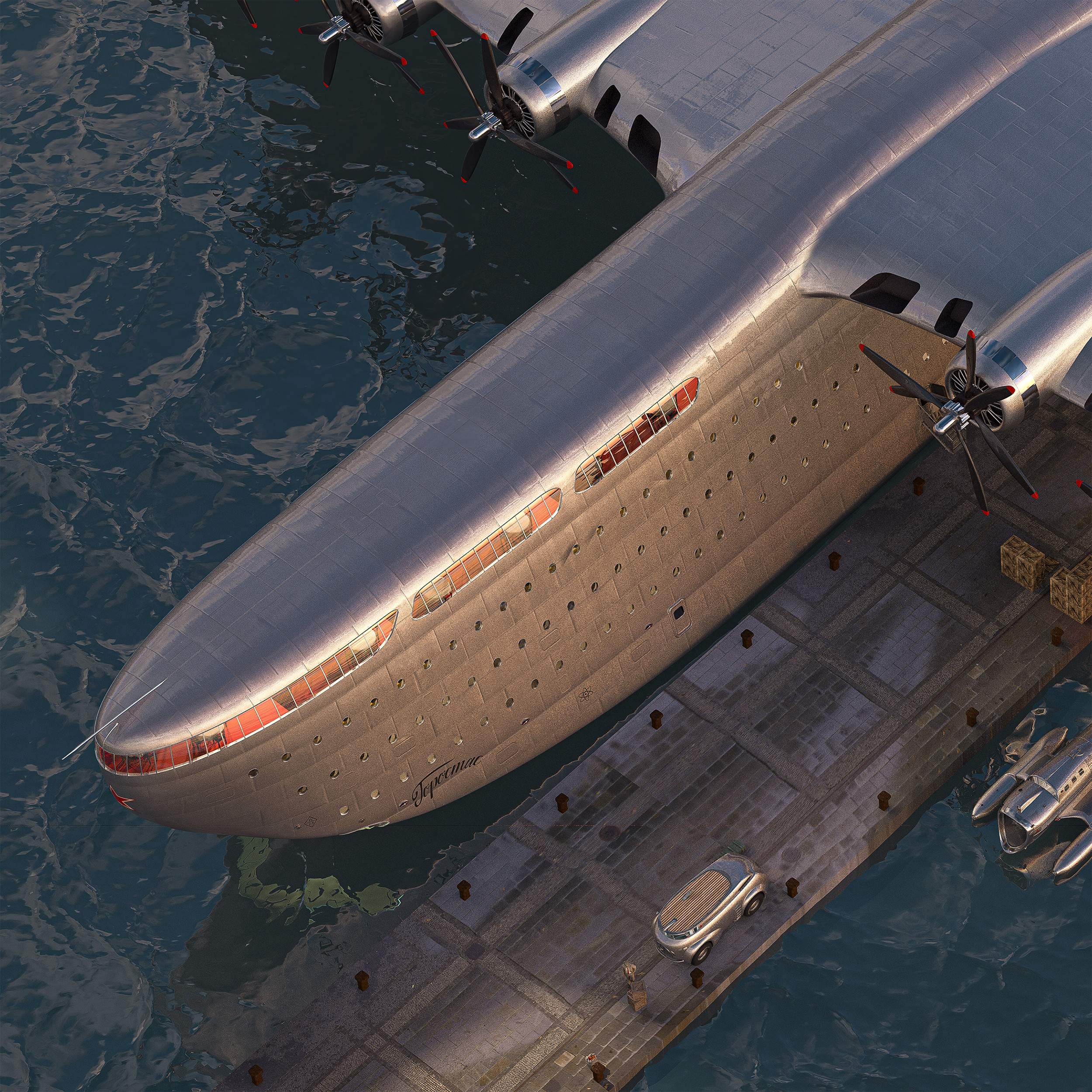 Docked at Odesa port.