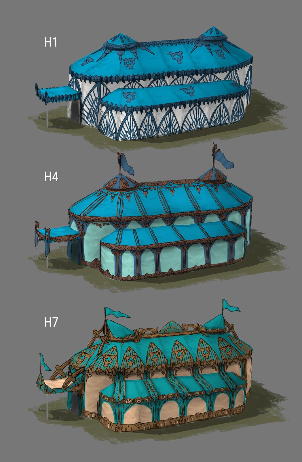 The Siege: King's Tent Design 02 (180min) // Fantasy / Medieval / Props / Design