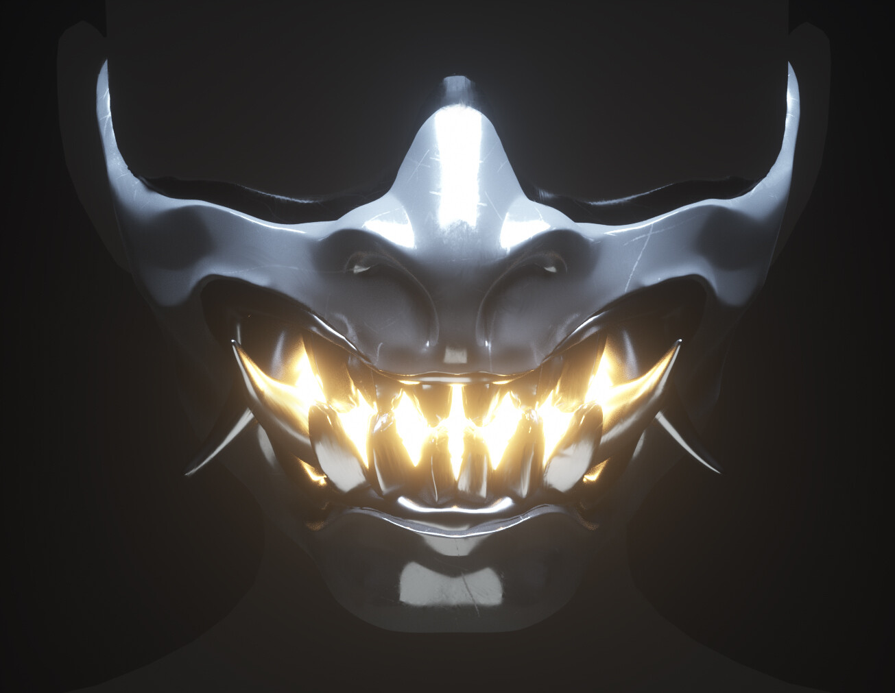 Oni Mask with glowing emission. I thought it was a nice added touch.