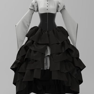 Tristan griffith victorian inspired dress
