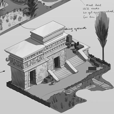 Aztec Chinampa sketches