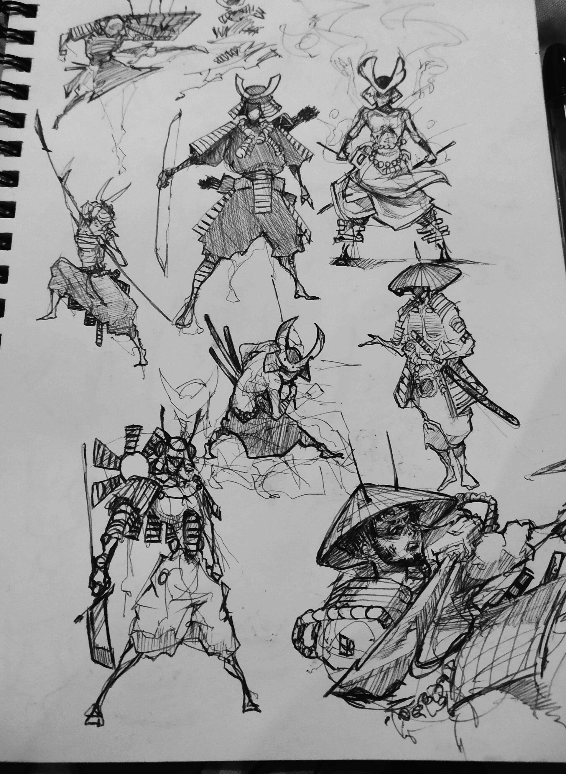 Lat Sp Samurai Sketches