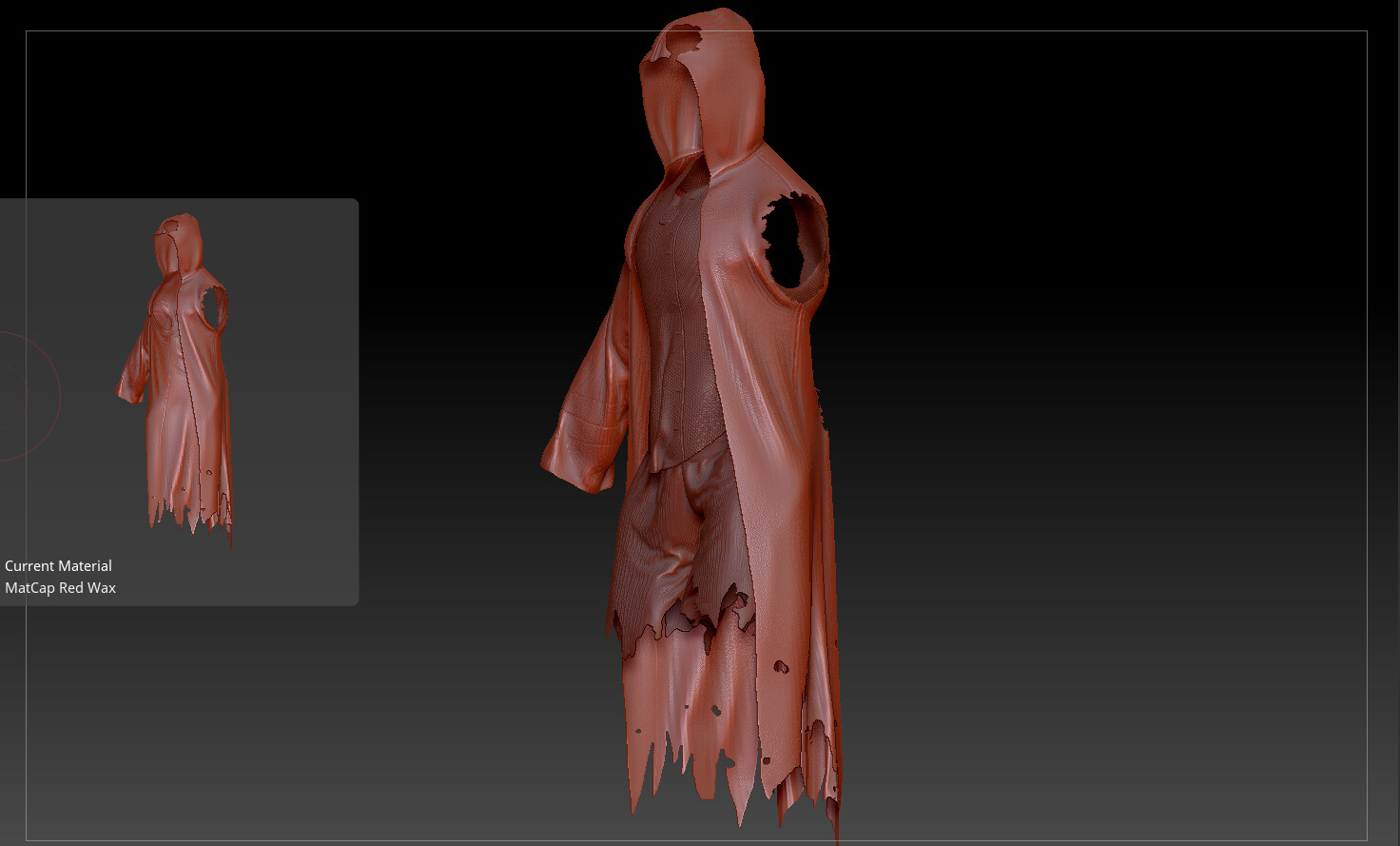 the tweaking of the clothes from Marvelous Designer.