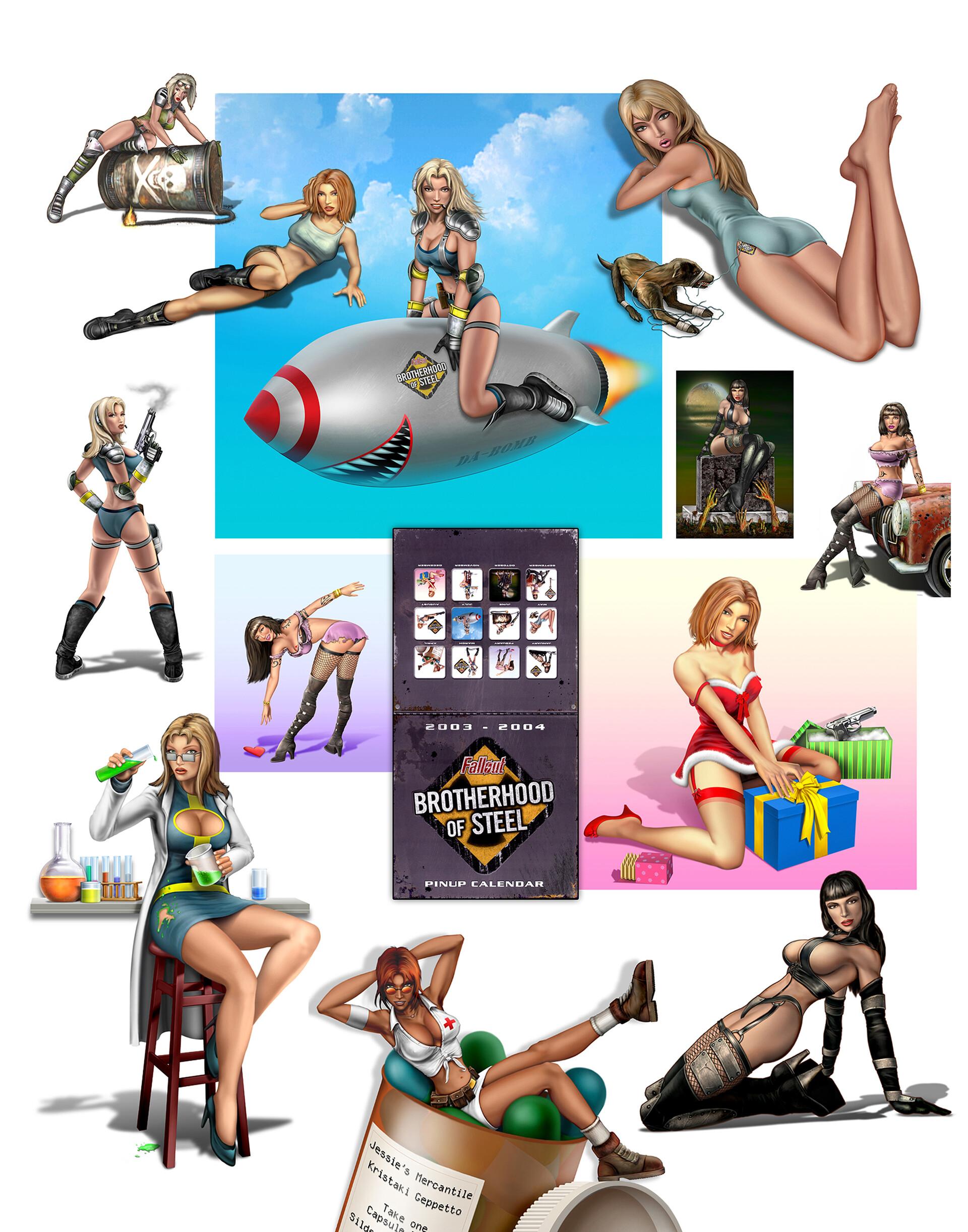 Fallout BOS  promotional 2003 - 2004  Pin-up Calendar