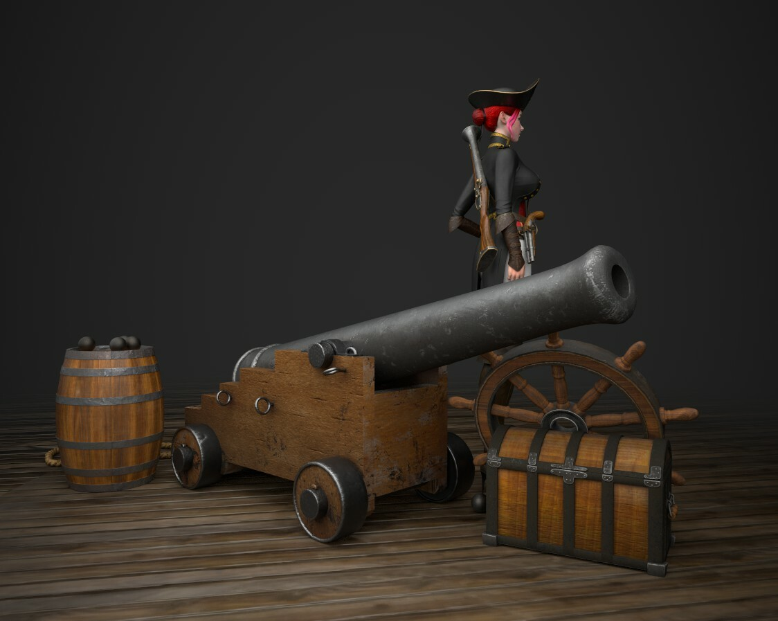 Blunderbuss Betty Stylized Pirate Girl Concept