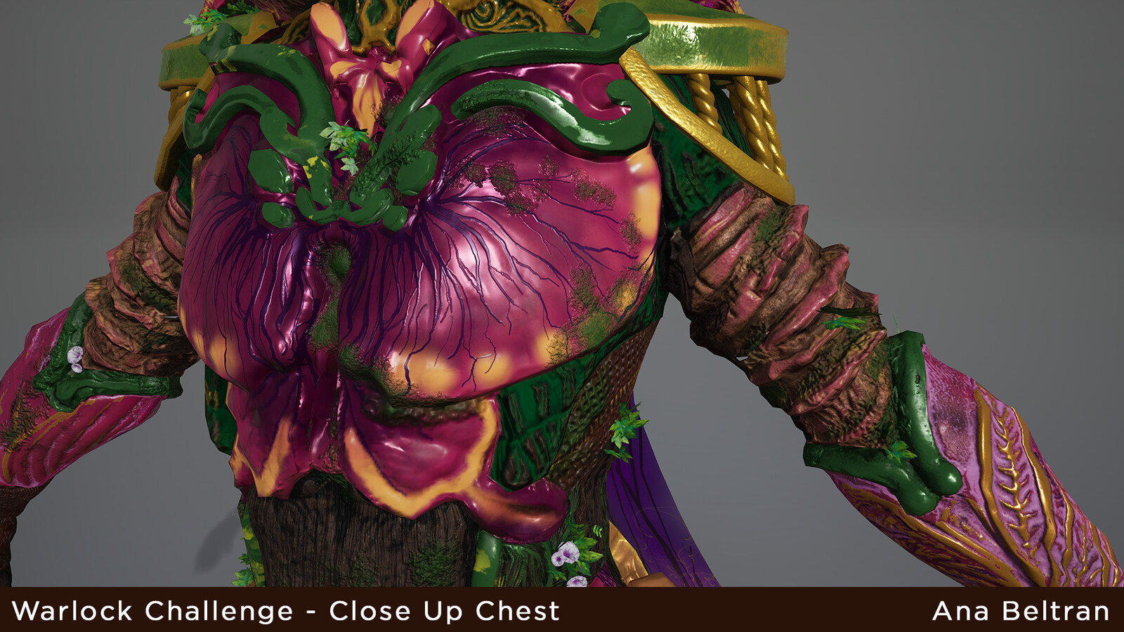 Up Close Chest rendered in Unreal