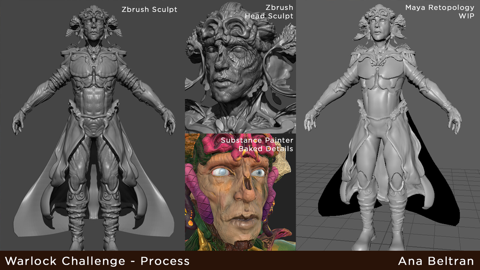 Process from Zbrush to Maya to Substance Painter