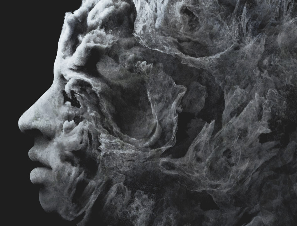 Using noise to displace a volume as well as geoemtry of a 3D scanned head