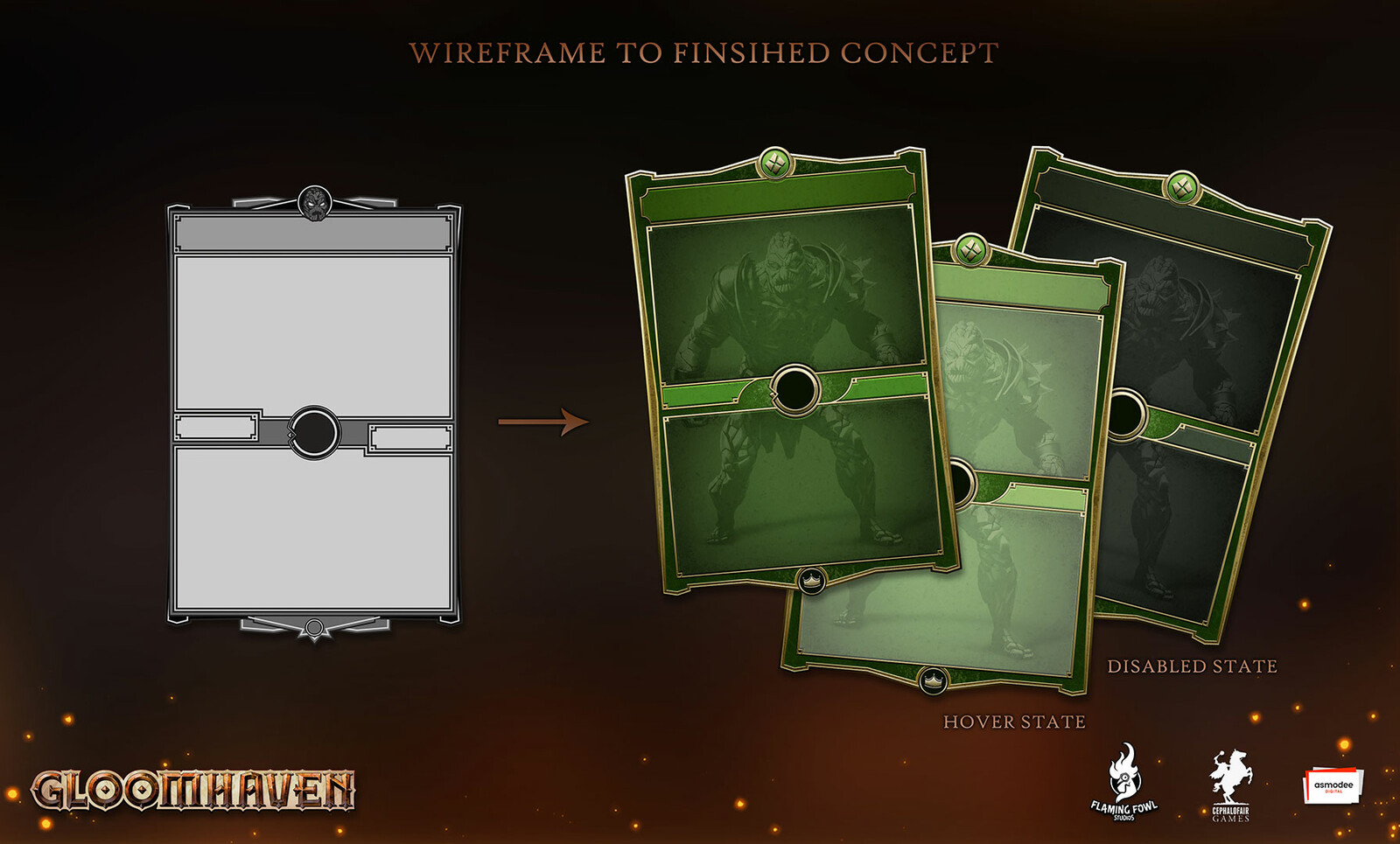 The chosen wireframe was developed.