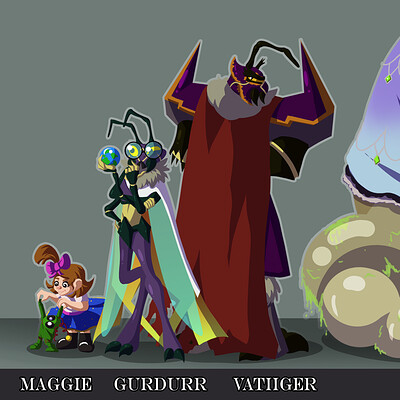 Mabel corsi character lineup cell shaded