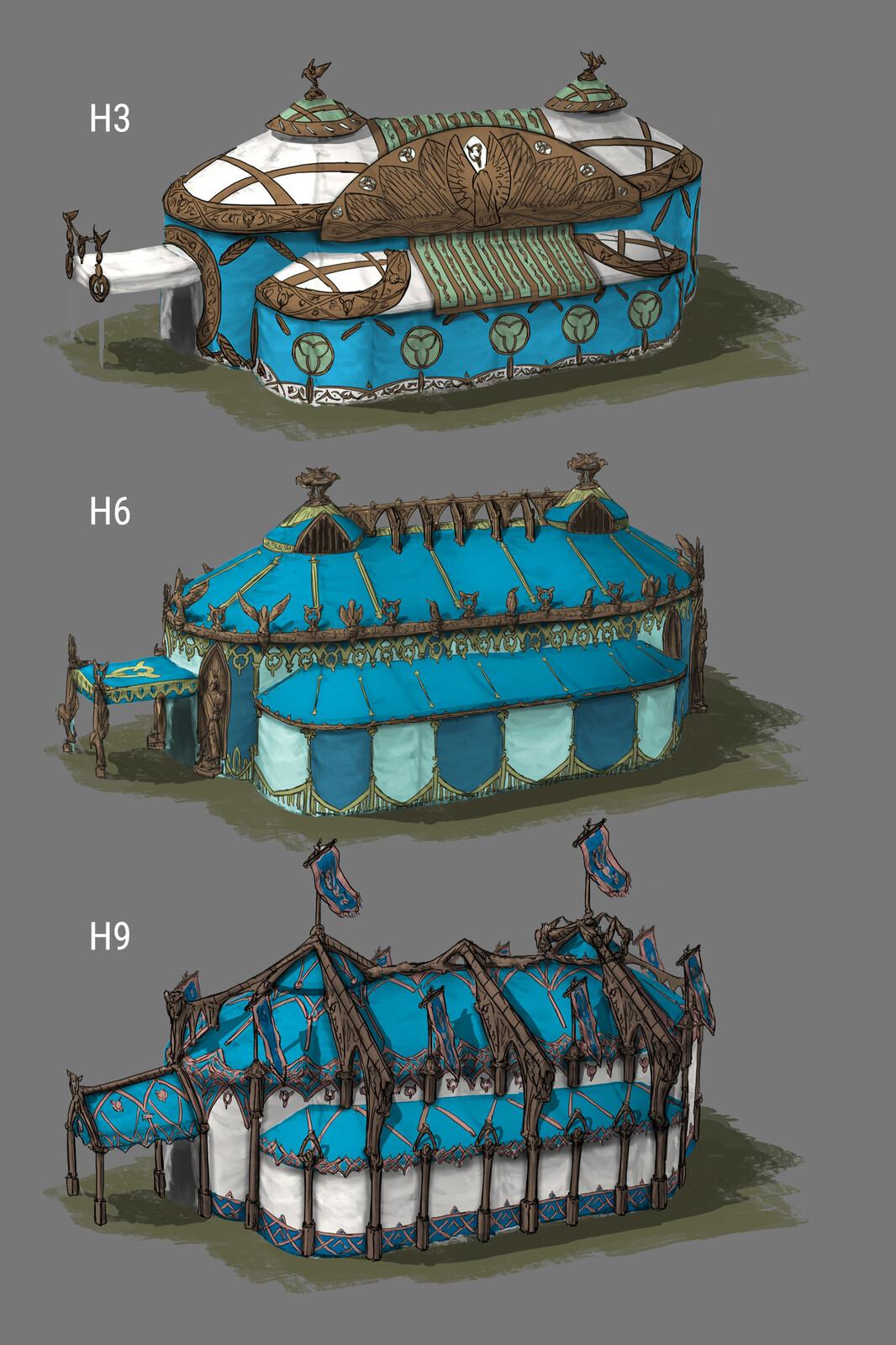 The Siege: King's Tent Design 03 (180min) // Fantasy / Medieval / Props / Design