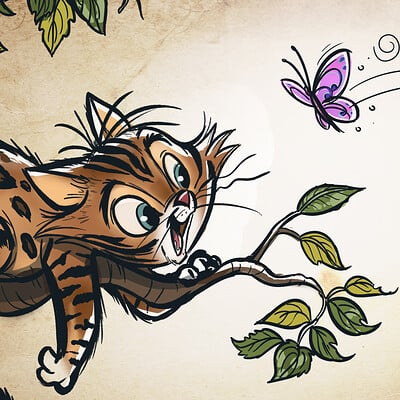 Vipin jacob butterfly cat