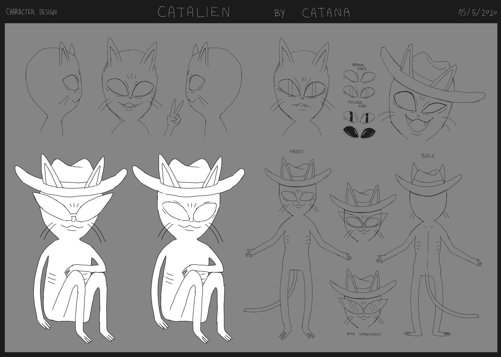 Catalien Character Design