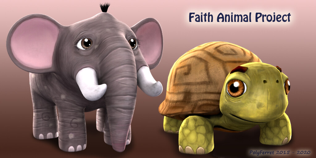 A turtle and an elephant.