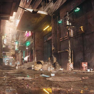 Najeeb najjar cyber alleyway daylight