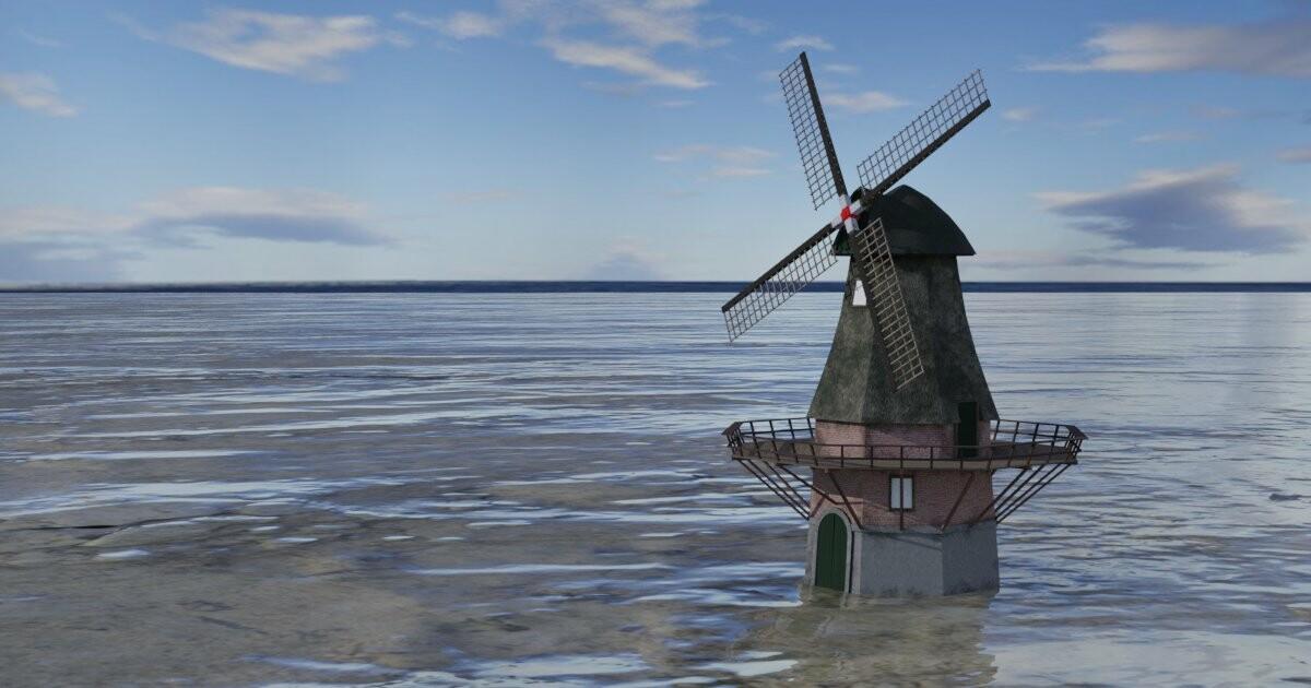 Dutch Wind Mill - game asset