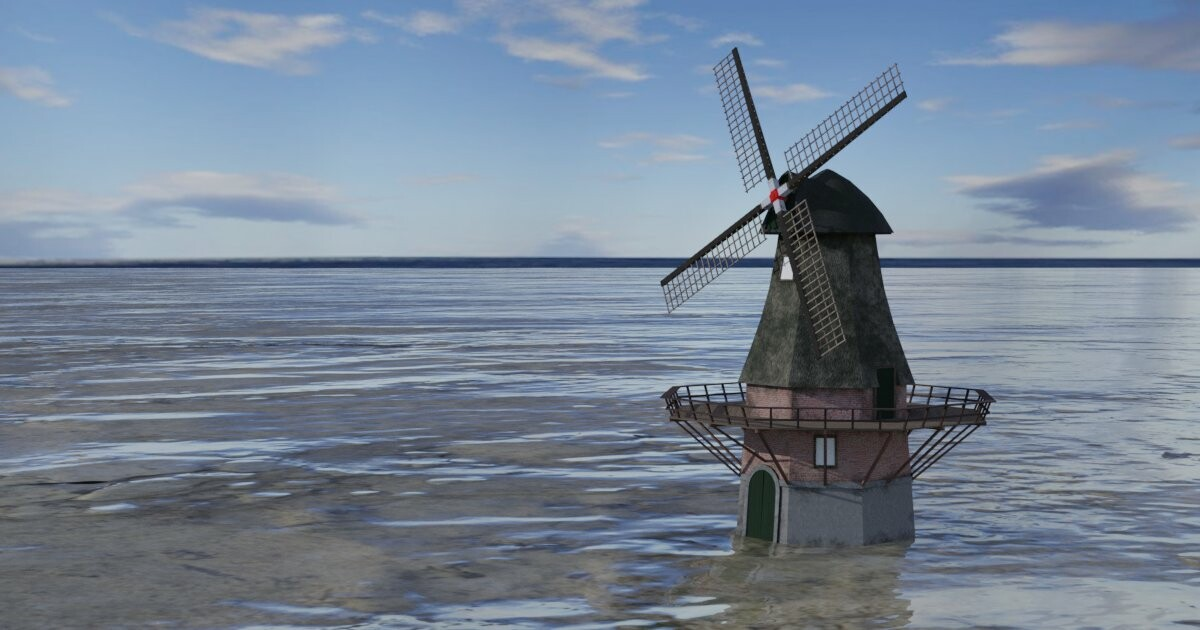 Dutch Wind Mill - game asset