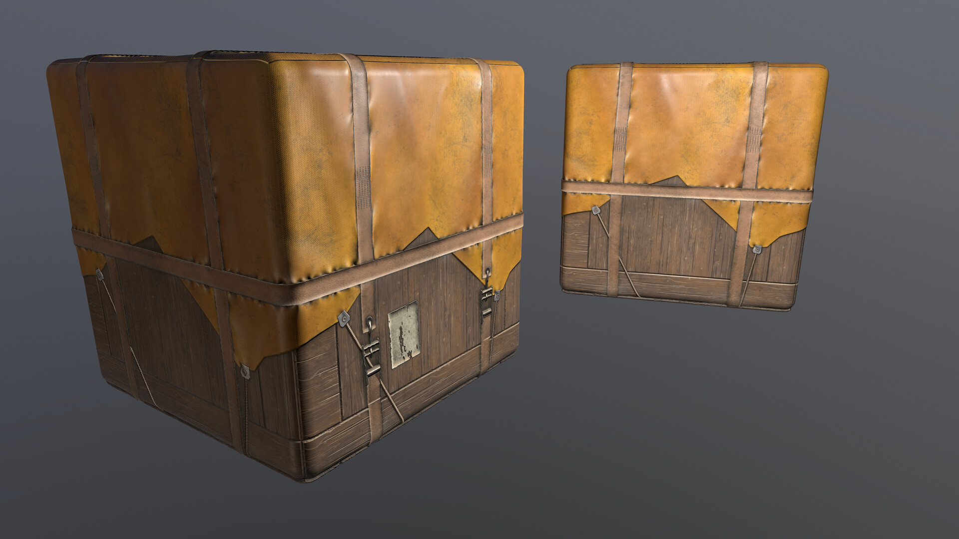 Crate with multiple materials on each side