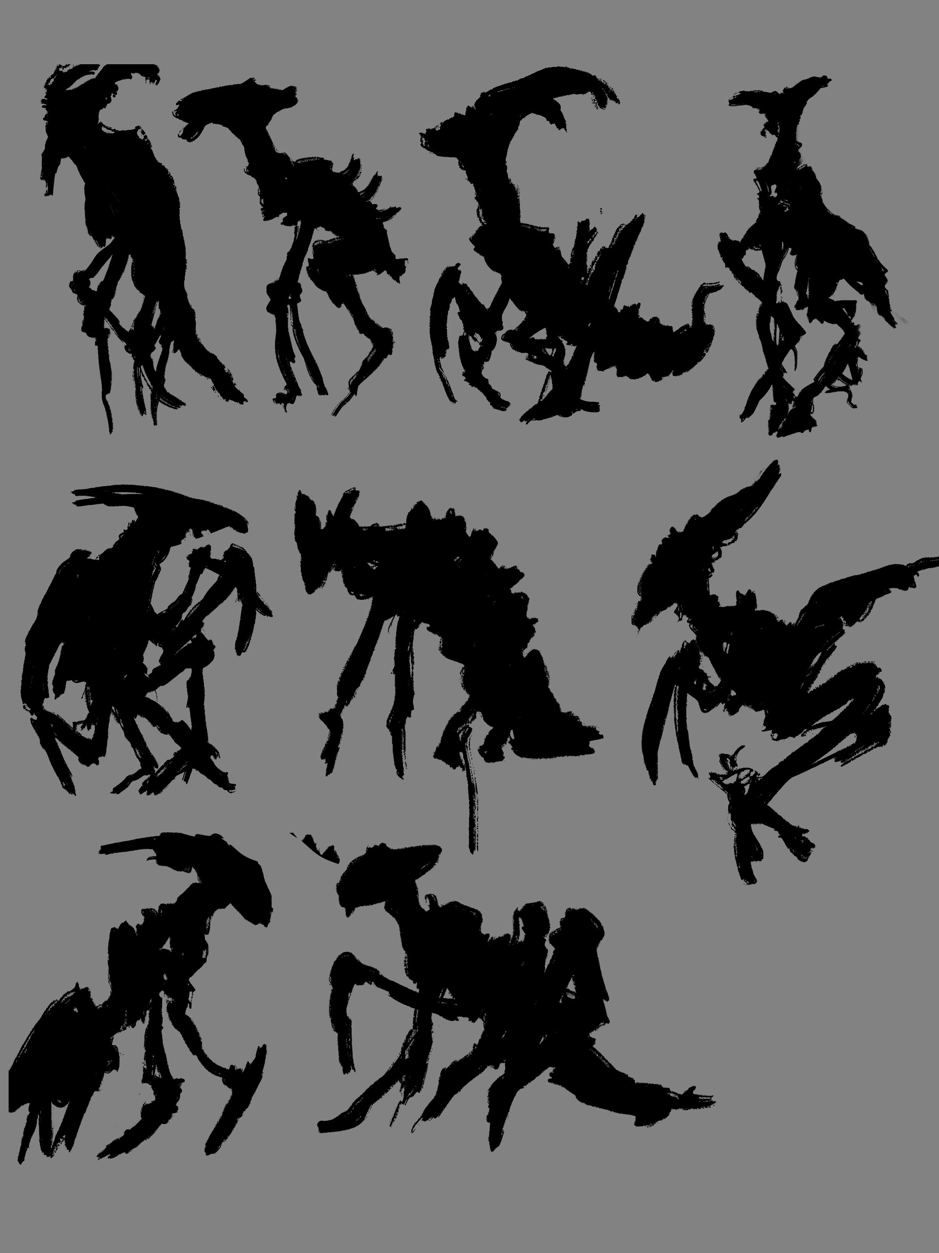 Quick thumbnails for creatures