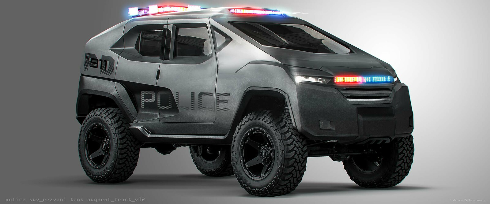 Westworld Police SUV - designed by Victor Martinez