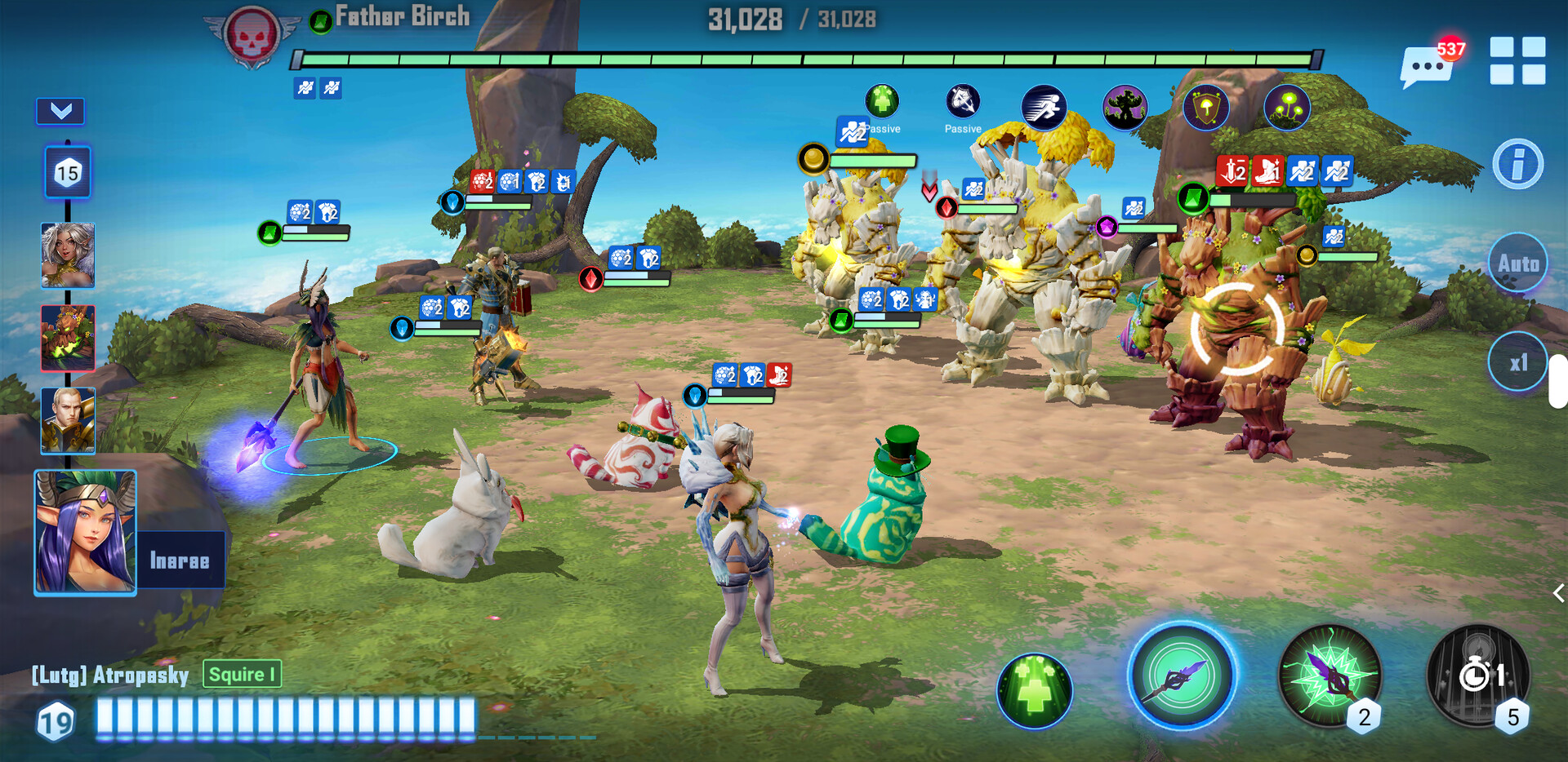 In-game battle scene