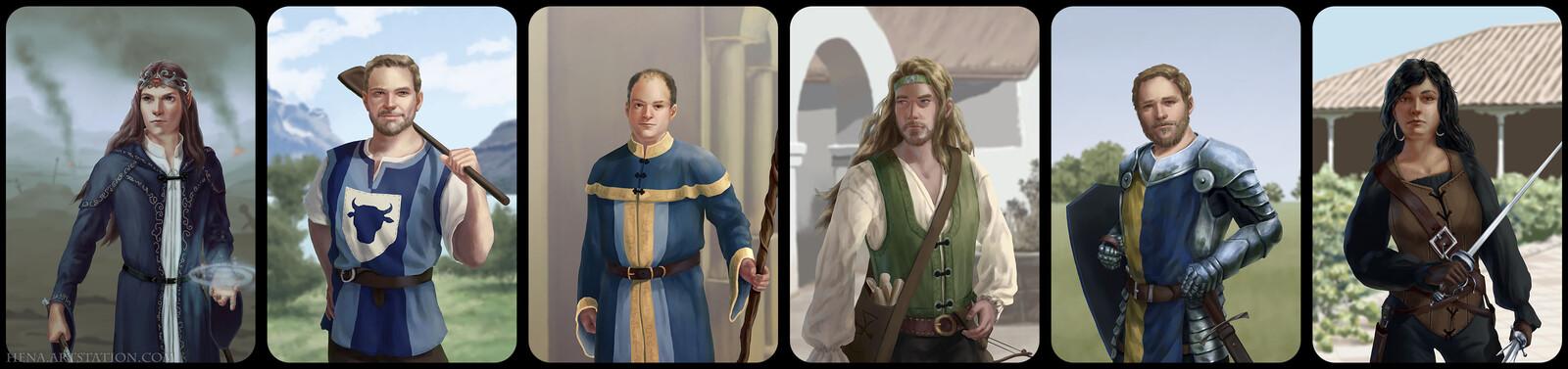 DSA: Character Portraits