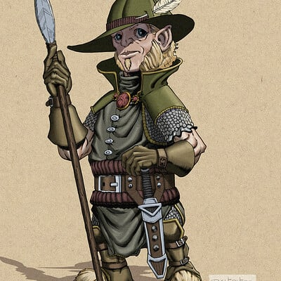Robert shepherd halfling fighter rendered