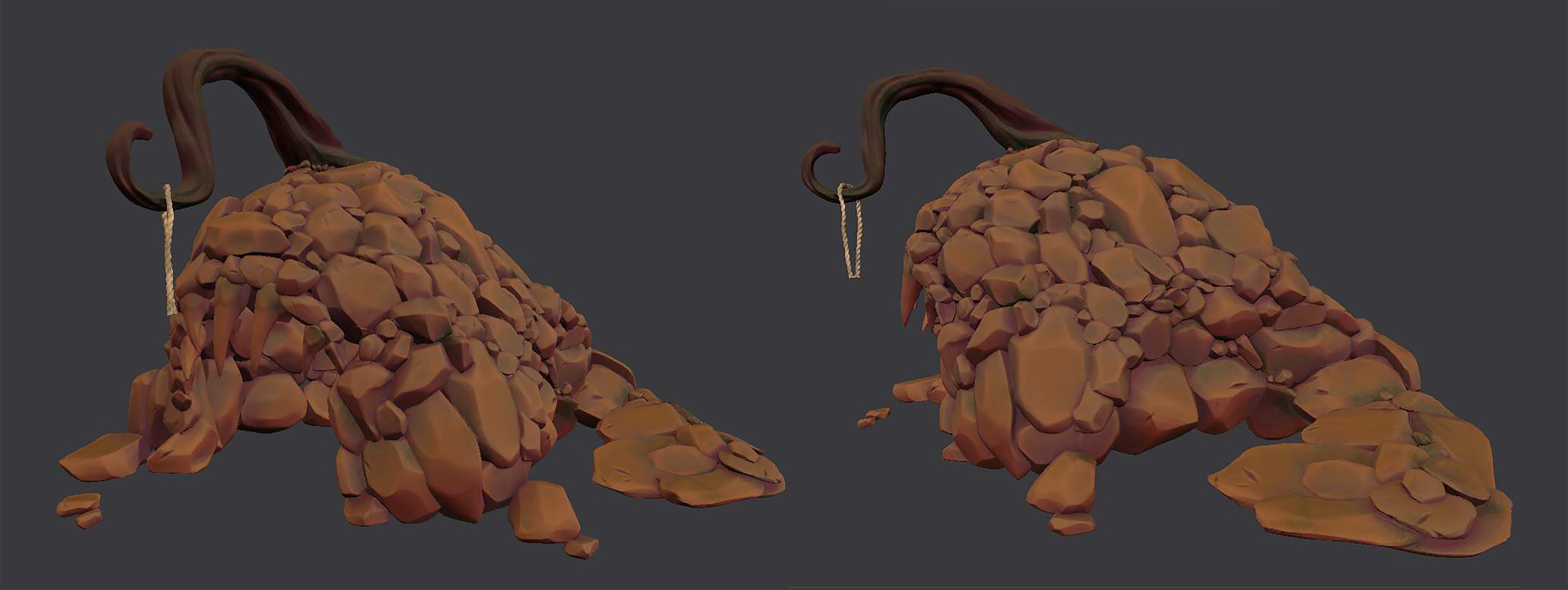 Hand-painted cave texture in Substance Painter