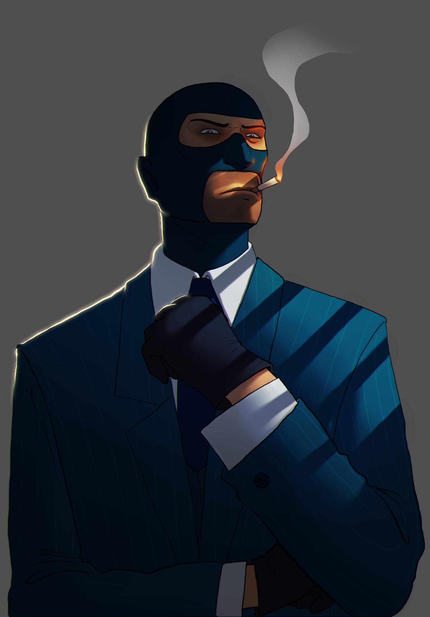 Eliott Renie Six Fan Art Team Fortress 2 Spy