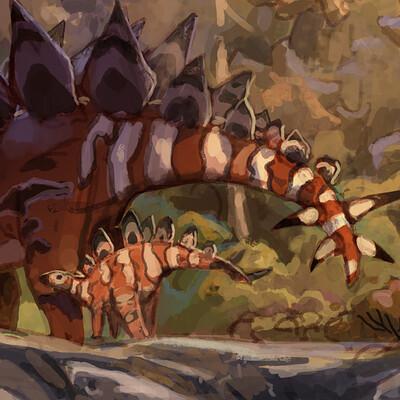 Pablo rivera stegosaurus