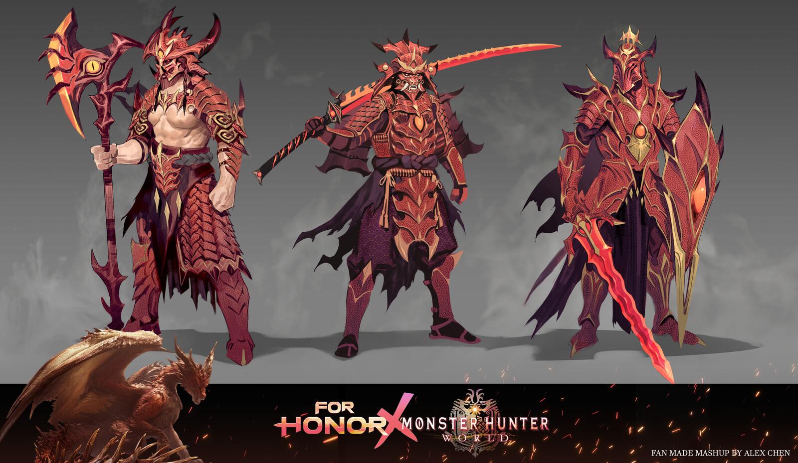 For Honor x Monster Hunter World Mashup Fanart