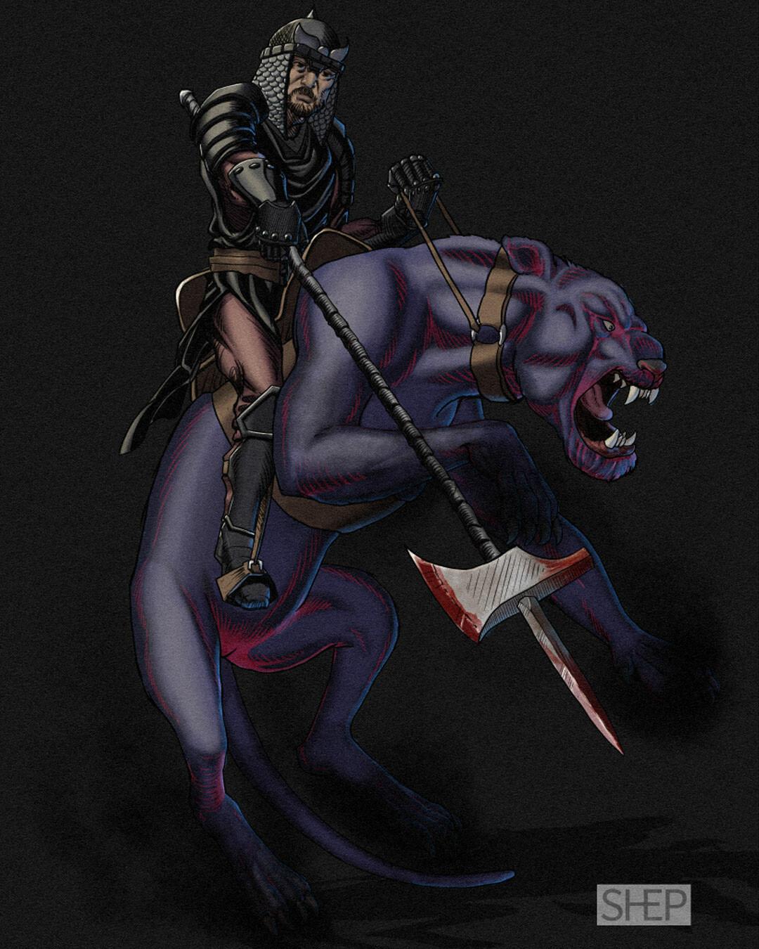 Evil Black Knight - D&D Character