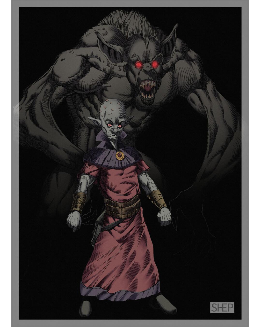 Deep Gnome Vampire - D&D Monster