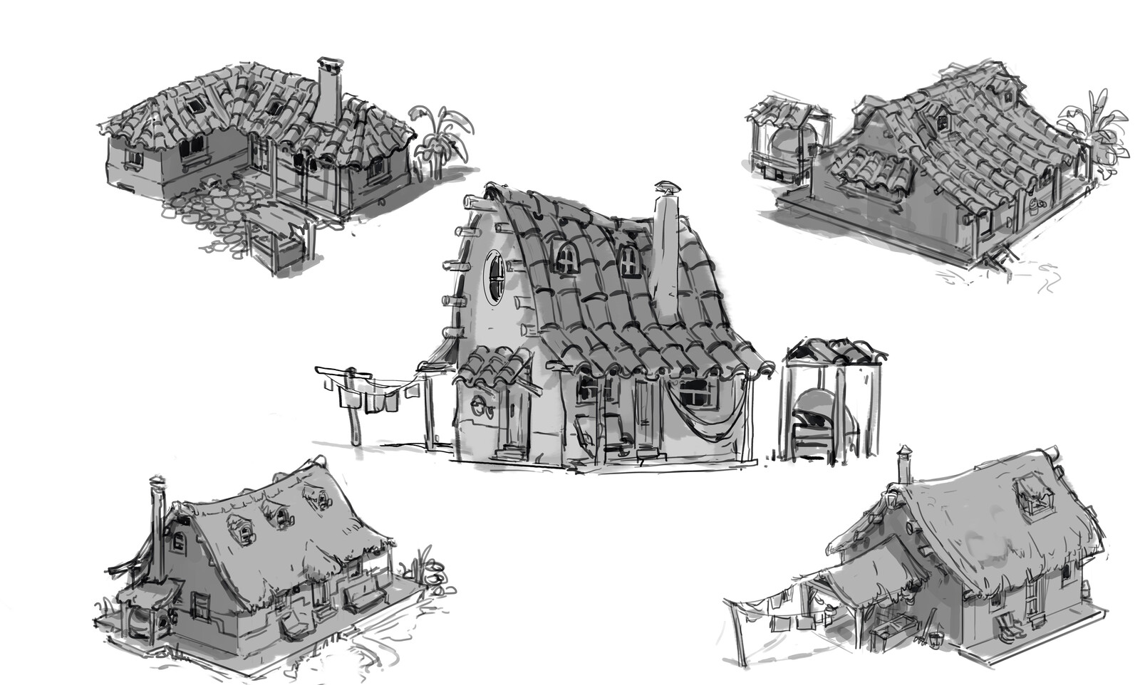 Grandma's House- Concept Sketches