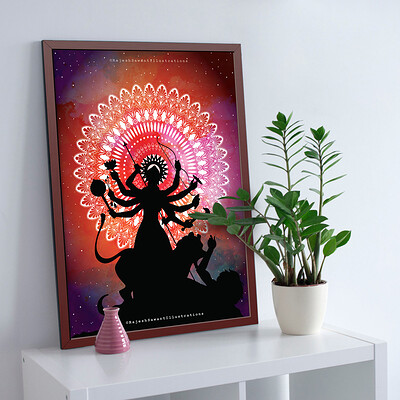Rajesh r sawant frame with pot and plant