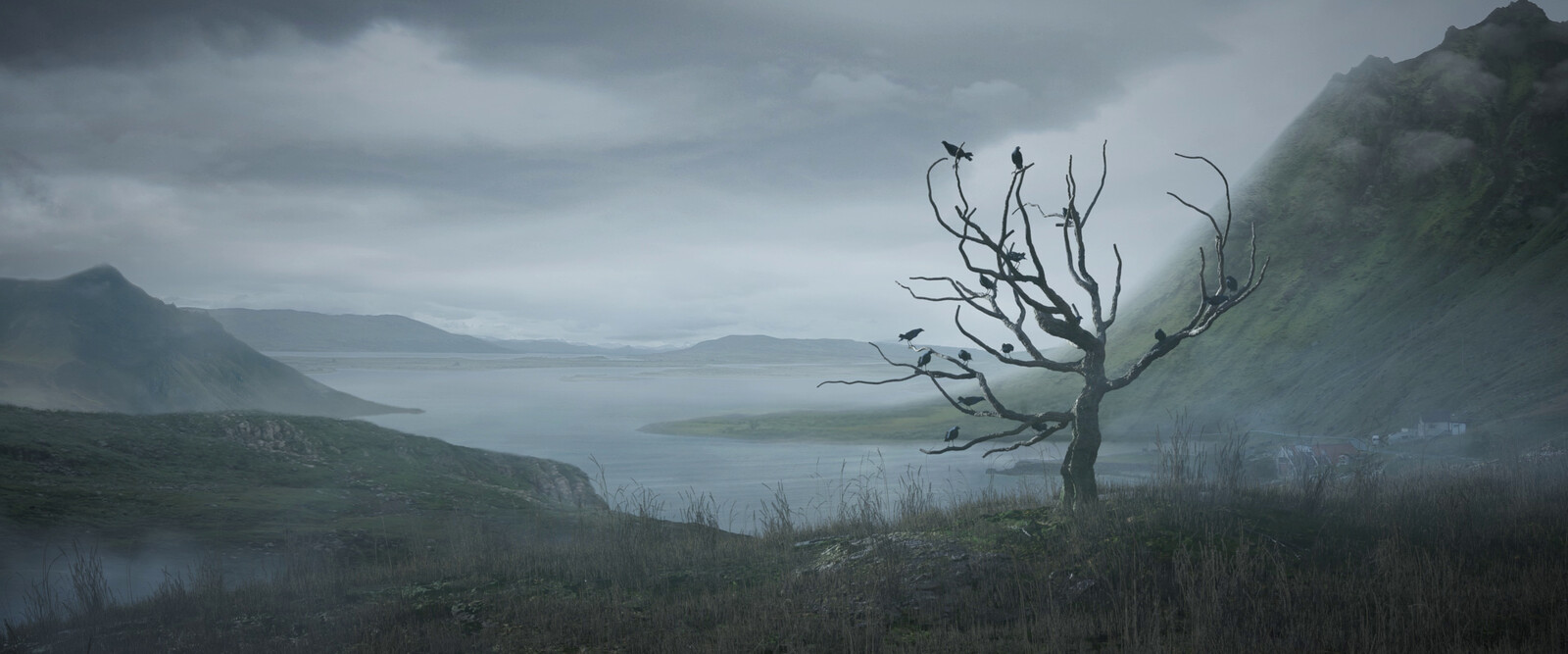Layout, instancing and lighting of the environment.  Coordination of the matte painting with the matte painting artist.