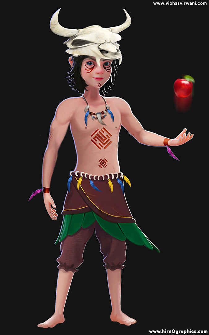 Full character concept/render
