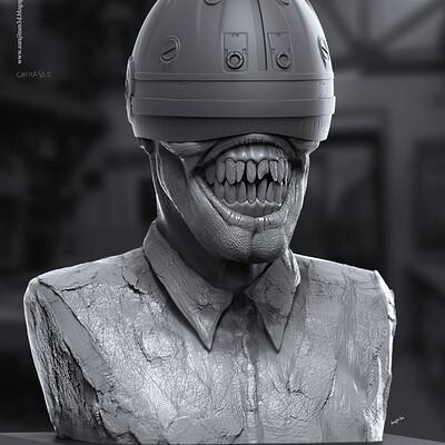 Surajit sen ghouls2 0 digital sculpture surajitsen may2020a
