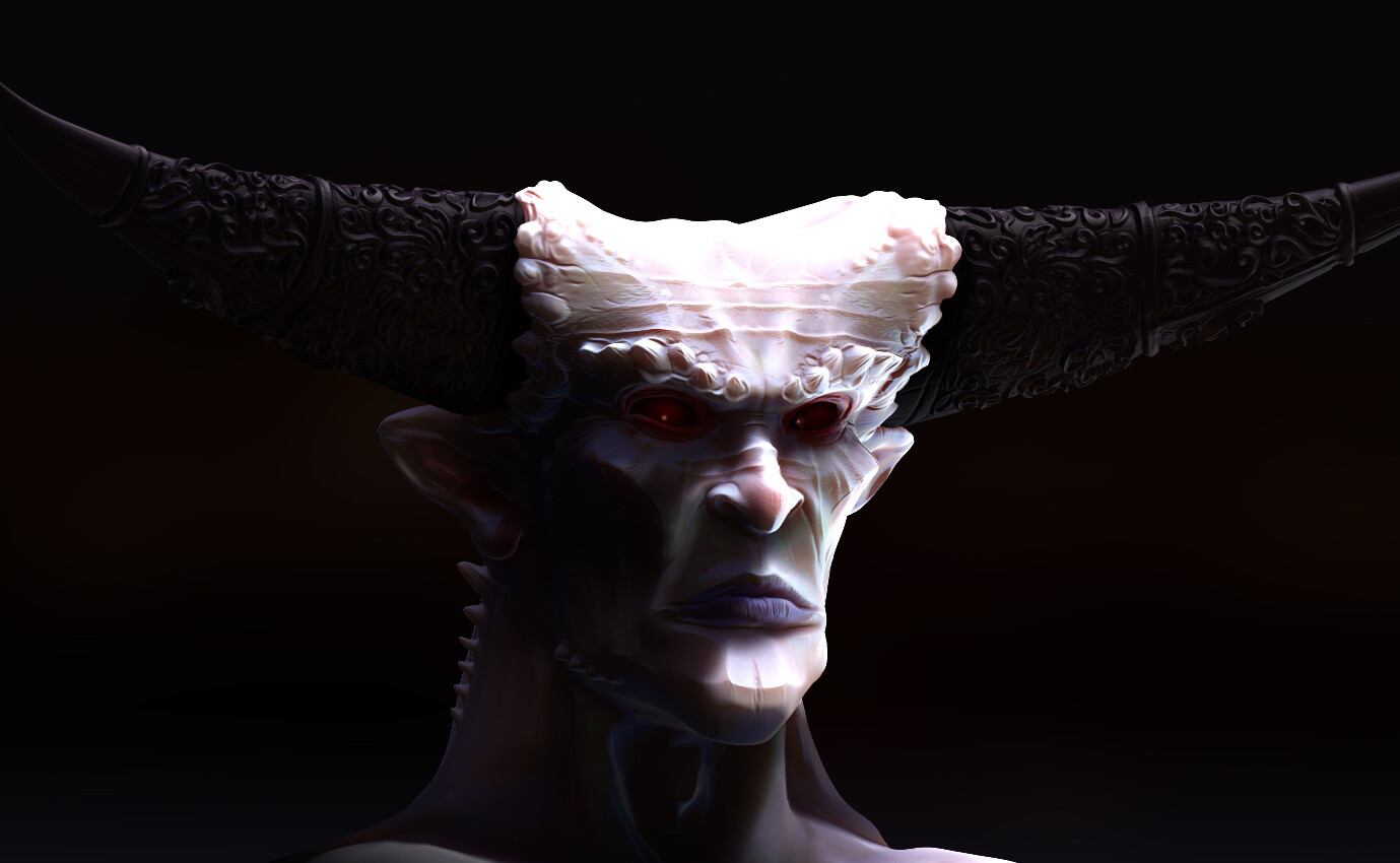 Render - Zbrush only, passes combined in Photoshop.