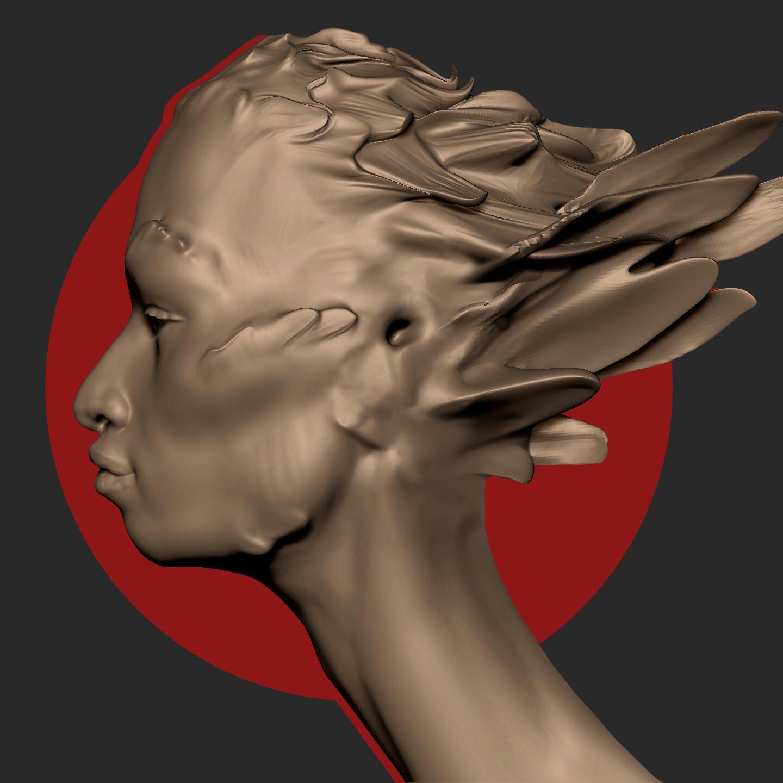 Harpy head - sketch