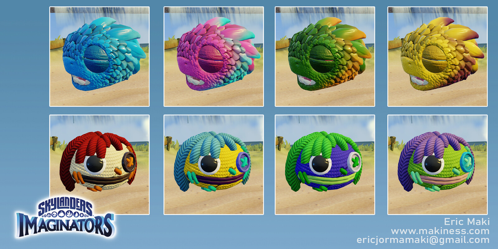 Create Your Own Skylander Heads