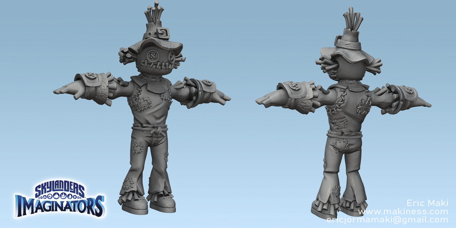 Scarecrow Set Sculpt