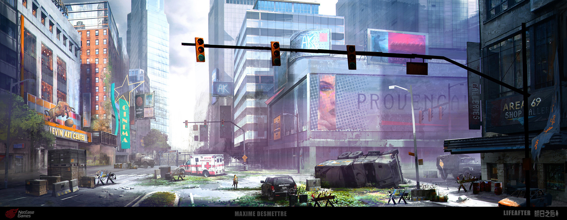 Life After - Levin City Crossroad Concept Art (2019)