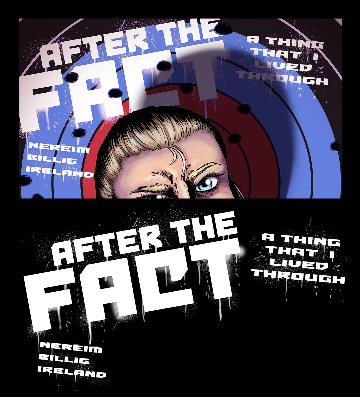 Logo design and cover page credits for the comic After the Fact, created and written by TY Nereim.