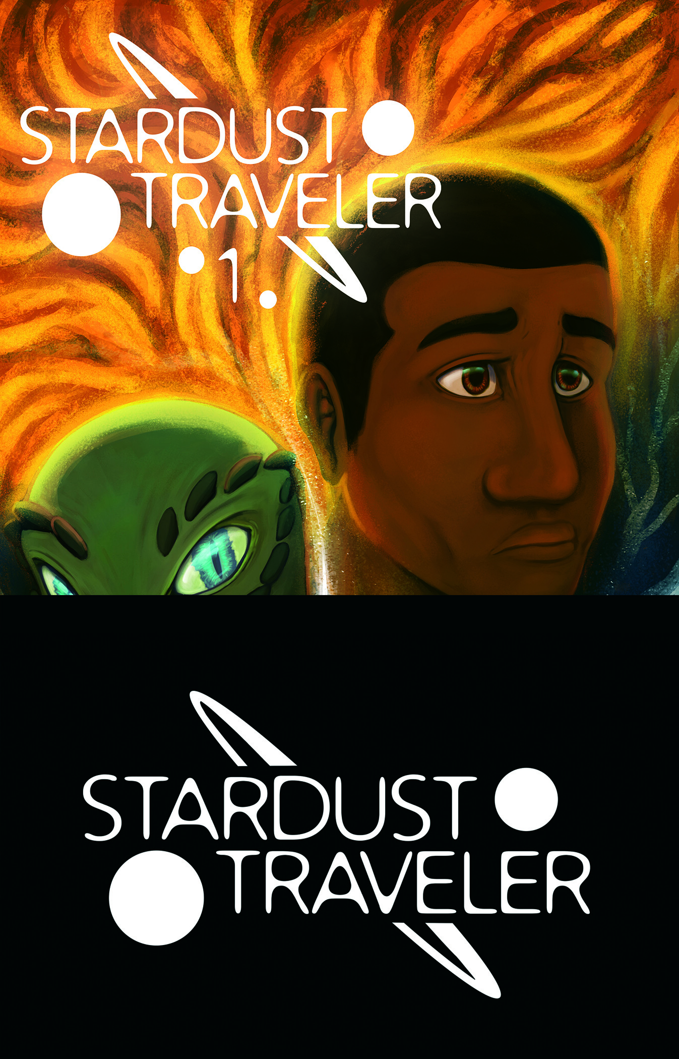 Logo design for comic project Stardust Traveler written and created by TY Nereim.