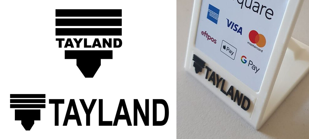 Logo design for Tayland Fabrication, a 3D printing and design service I co-founded. Included photo is of the logo printed and placed on a printed mount we designed and manufactured in house.